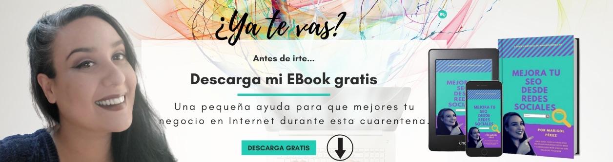 Descarga el E-book gratis para mejorar tu SEO - Marisol Pérez, Consultora SEO